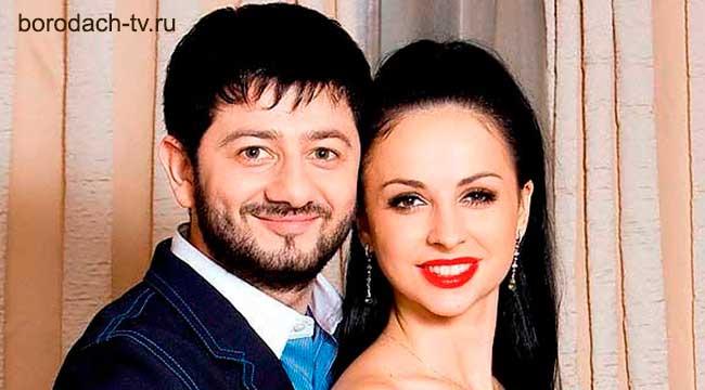 Миша Галустян и его жена Виктория